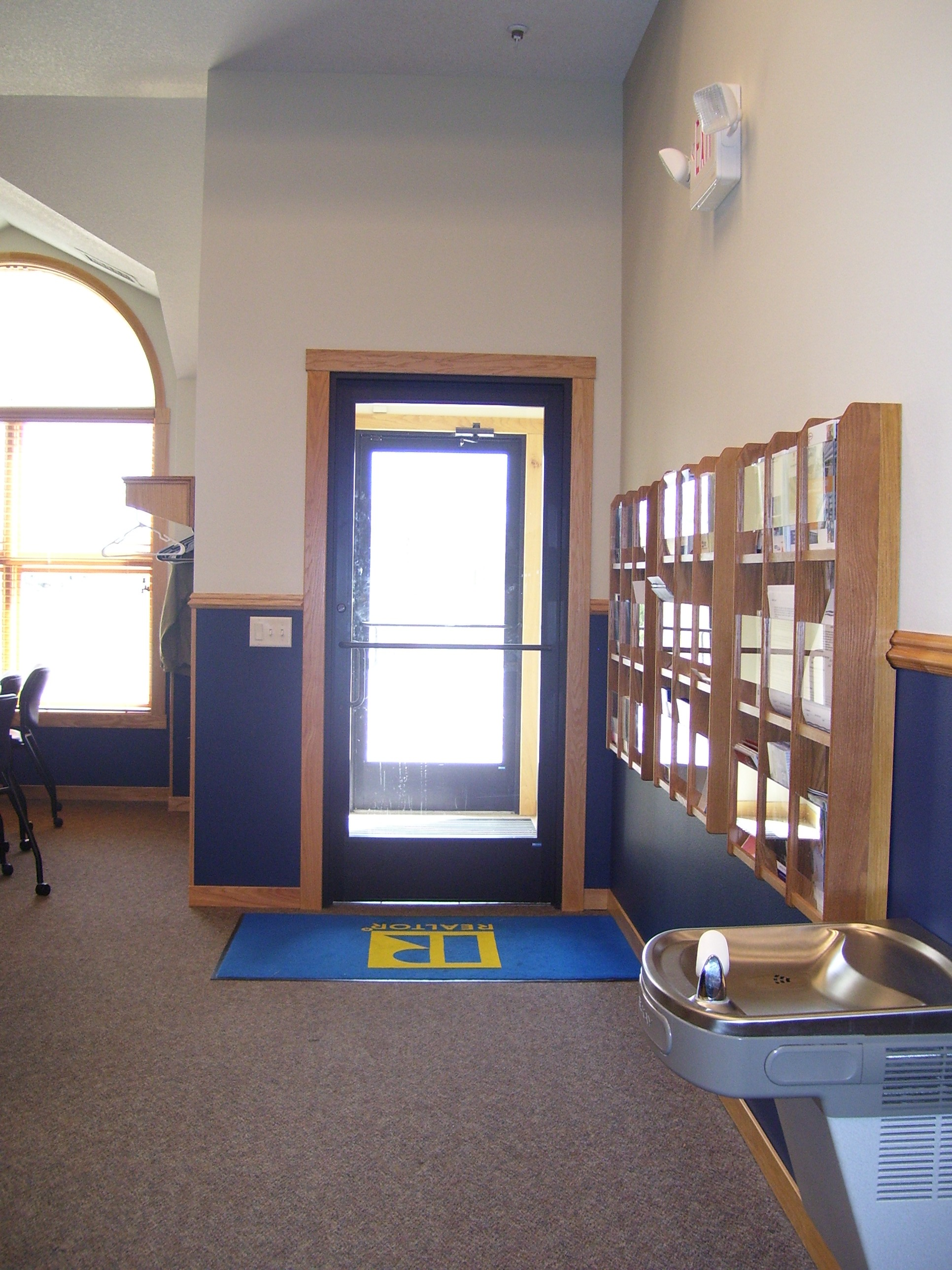 Private entry to conference room