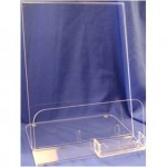 Acrylic Brochure Holder with Business Card