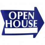Open House Arrow Sign - Blue