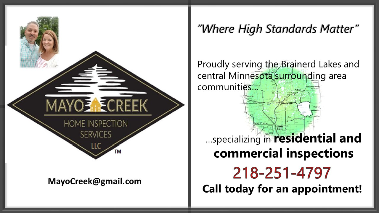 Mayo Creek Home Inspections Banner Ad for GLAR 2021